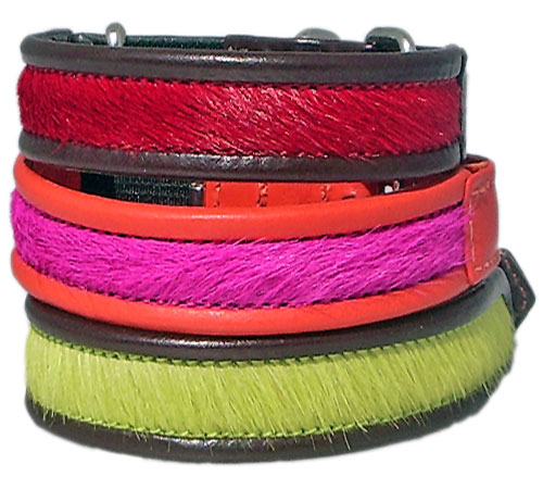 The Brightside Cowskin & Calf Cat Collars